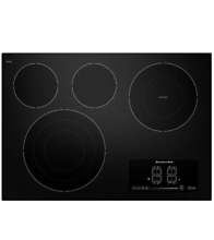 KitchenAid KECC607BBL 30  Black Built In Electric Cooktop NOB  23454