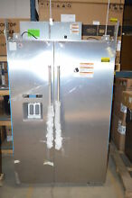 KitchenAid KBSD608ESS 48  Stainless Side by Side Refrigerator NOB T2  23466