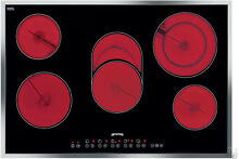 Smeg S2773CXU Ceramic Smoothtop Electric Cooktop  30 Inch  New