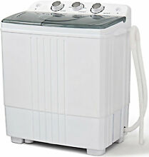Washer and Spin Dryer Washing Machine 14lbs Stackable Cheap Best Two in One New