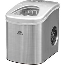 NEW  Igloo Compact Portable Convenient Countertop Ice Maker  Stainless Steel