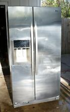 Kenmore Elite Coldspot Side by Side Refrigerator ICE WATER Stainless 36W 70H 32