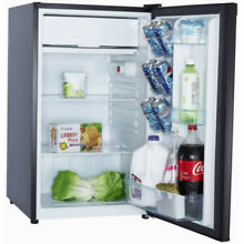 Arctic Fresh 4 4 Cu Ft  Compact Refrigerator with Full Width Chiller   Black