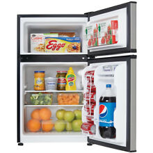 Danby 3 2 Cu Ft  Compact Top Mounted Refrigerator Freezer   Stainless Steel
