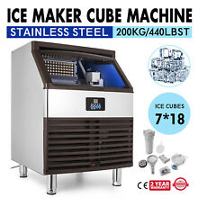 Stainless Steel Commercial 440Lbs Undercounter Ice Maker Machine Air Cooled Cube