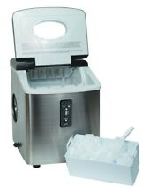 Counter Ice Maker with Over Sized Ice Bucket  Stainless Steel Top Quality