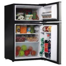 2 Door Mini Fridge Freezer Dorm Bar Bedroom Extra Refrigerator Soda Beer Food