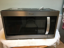 Whirlpool  1 9 Cubic Ft Stainless Steel Microwave Combination WMH32519HZ