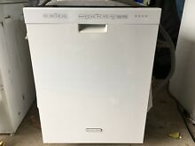 KitchenAid KUDS30IXWH8 White Built in Dishwasher with Stainless Steel Tub