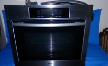 Used Miele 28  Built In Wall Electric Oven Stainless 208V H4780B Made In Germany