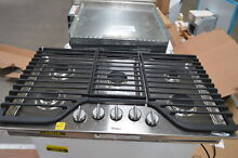 Whirlpool WCG97US6DS 36  Stainless 5 Burner Gas Cooktop NOB  25028 HL