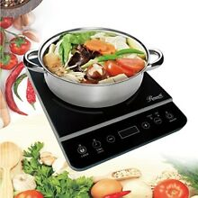 1800W Electric Induction Cooktop Stove with Stainless Steel Pot Cookware Burner