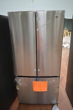 GE GWE19JSLSS 33  Stainless French Door Refrigerator NOB CD  25395 HL