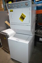 Whirlpool WET4027EW 27  White Electric Laundry Washer Dryer Center NOB HL  23875