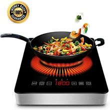 1800w Countertop Burners Portable Induction Cooktop With COMMERCIAL PLUG Timer