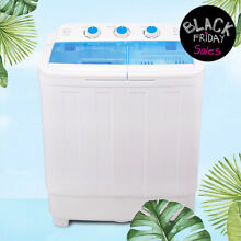 Mini Portable Compact Washing Machine 17 lbs Twin Tub Laundry Washer Spin Dryer