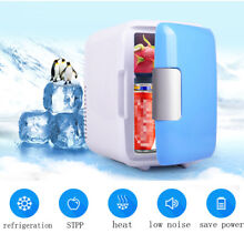 12V 4L Portable Mini Fridge Thermoelectric Cooler Warmer Car Travel Ice Box Blue