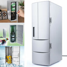 Portable USB Desktop Mini Refrigerator Beverage Cooler Office Freezer Fridge US