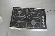 GE JGP940SEKSS 30  Stainless Gas On Glass 4 Burner Cooktop NOB  25639 HL