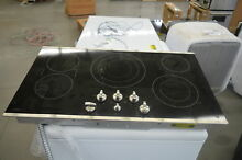 GE PP7036SJSS 36  Stainless Smoothtop Electric Cooktop NOB  25495 HL