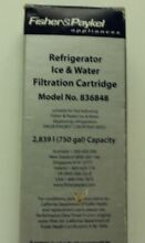 NEW  Fisher   Paykel Refrigerator Ice   Water Filtration Cartridges  836848