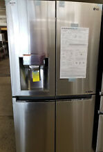 LG   22 7 Cu  Ft  Counter Depth Refrigerator   Stainless  LNXC23726S BST71401
