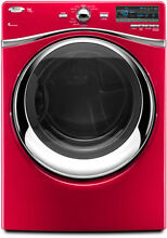 Whirlpool WGD94HEXR 27  Red Front Load Gas Steam Dryer NIB NEW  8420 21