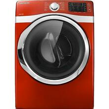 Samsung DV435ETGJRA 27  Red Front Load Electric Dryer NIB  8496 HL