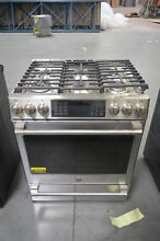 GE CGS986SELSS 30  Stainless Slide In Gas Range NOB  26356 HL
