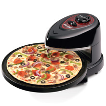 Presto Rotating Pizza Oven Pizzazz Wings Maker Non Stick Cooker Black New