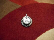 Robertshaw GAS OVEN CONTROL KNOB Black Vintage Stove New Old Stock Flame Master