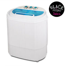 13 LBS Mini Portable Washing Machine Twin Tub Compact Laundry Washer Spin Dryer