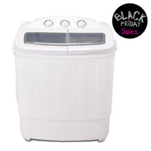 13 LBS Mini Compact Portable Washing Machine Twin Tub Laundry Washer Spin Dryer