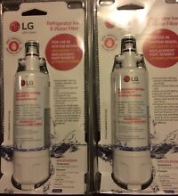 LG WATER FILTERS 2 Canisters Mdls ADQ36006101 S  NEW Packaged