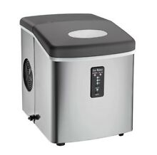 Compact Ice Maker Stainless Steel Home Appliances with Oversized Ice Basket