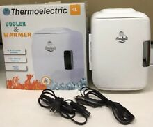Cooluli Mini Fridge Electric Cooler and Warmer  4 Liter   6 Can  AC DC   White