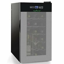 Nutrichef 18 Bottle Thermoelectric Wine Cooler Refrigerator   Red White Champ