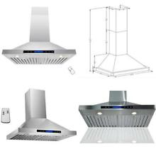 Akdy 30  Convertible Stainless Steel Wall Mount Ductless Ventless Range Hood