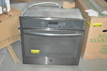 GE JT5000BLTS 30  Black Stainless Single Electric Wall Oven NOB  27747 HL