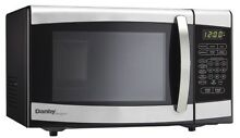 Microwave Oven Small Danby 0 7 Cu Ft  Stainless Steel For Dorm Apt  Small Space