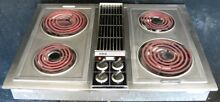 Jenn Air  30  stainless steel downdraft electric cooktop  grill  griddle C221