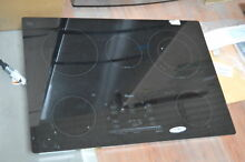 Whirlpool G9CE3065XB 30  Black Electric Smoothtop Cooktop NOB  27897 HL