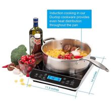Duxtop LCD 1800 Watt Portable Induction Cooktop Countertop Burner 9600LS