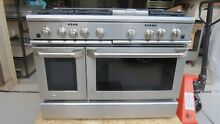 GE MONOGRAM ZDP48N6DHSS 48  DUAL FUEL  SELF CLEAN RANGE  6 GAS BURNERS