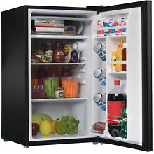 3 5 cu ft Compact Single Door Refrigerator  Blk Mini Frig College Dorm Office