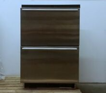 U Line U 1224DWRS 2 Drawer Stainless Steel Under counter Beverage Fridge PICKUP