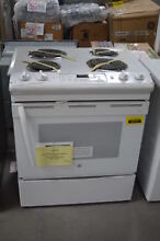 GE JS250DFWW 30  White Slide In Electric Range NOB  28650 HL