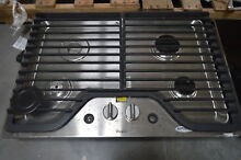 Whirlpool WCG51US0DS 30  Stainless 4 Burner Gas Cooktop NOB  28684 HL