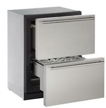 U Line 24 Inch Freestanding Counter Depth Compact Refrigerator with 4 5 cu  ft