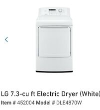 Electric dryer new LG DLE 487